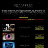 The Zeitgeist Film Series Gateway | Zeitgeist: The Movie, Zeitgeist: Addendum, Zeitgeist Moving Forward